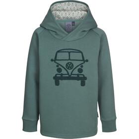Elkline Mini Van Felpa Con Cappuccio Bambino, trekking green